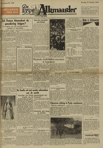 De Vrije Alkmaarder 1947-10-21