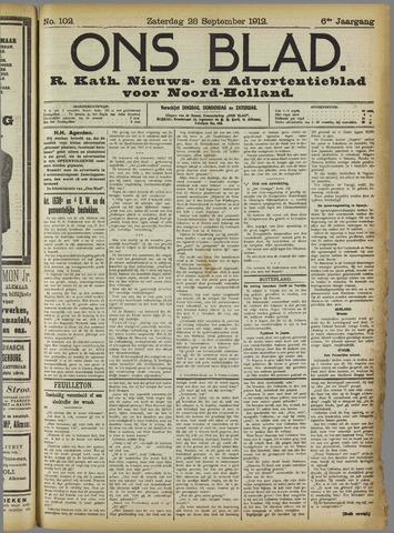 Ons Blad : katholiek nieuwsblad voor N-H 1912-09-28