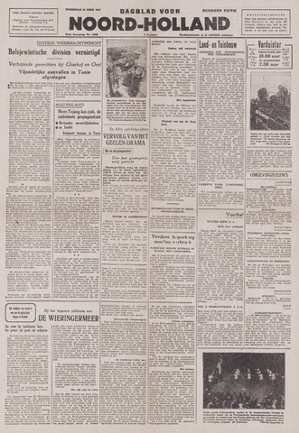 Dagblad Noord-Holland, Schager editie 1943-02-24