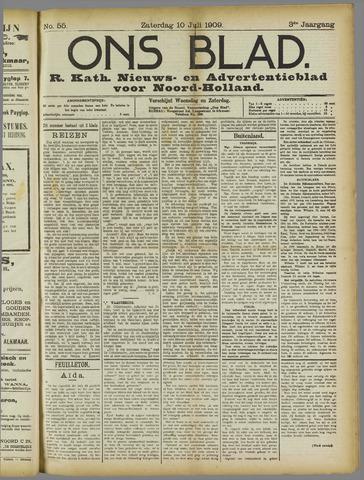 Ons Blad : katholiek nieuwsblad voor N-H 1909-07-10
