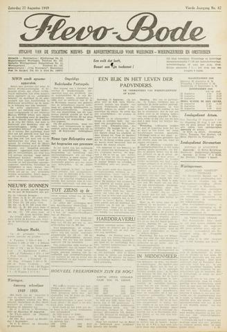 Flevo-bode: nieuwsblad voor Wieringen-Wieringermeer 1949-08-27