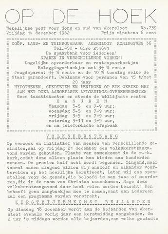 Op De Hoek, weekblad voor Akersloot 1962-12-14