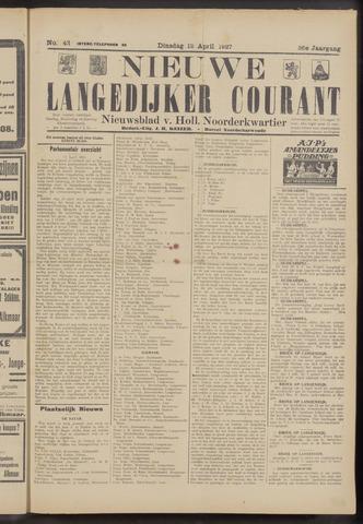 Nieuwe Langedijker Courant 1927-04-12