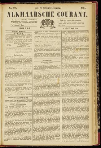 Alkmaarsche Courant 1884-10-03