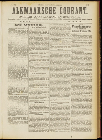 Alkmaarsche Courant 1915-08-23