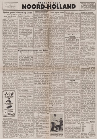 Dagblad Noord-Holland, Schager editie 1944-03-03