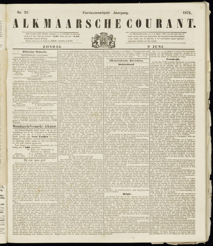 Alkmaarsche Courant 1872-06-09