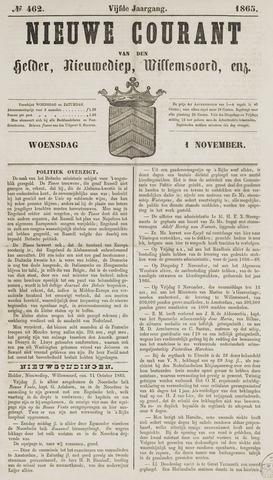 Nieuwe Courant van Den Helder 1865-11-01