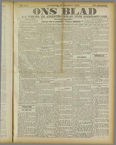 Ons Blad : katholiek nieuwsblad voor N-H 1919-12-18