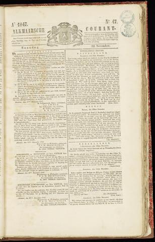 Alkmaarsche Courant 1847-11-22