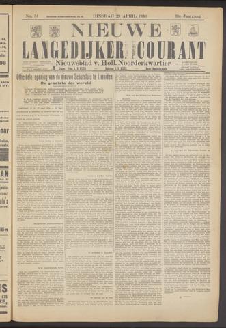 Nieuwe Langedijker Courant 1930-04-29
