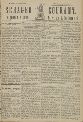Schager Courant 1911-11-01