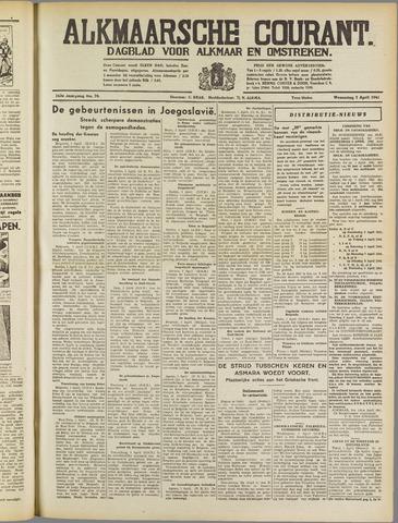 Alkmaarsche Courant 1941-04-02