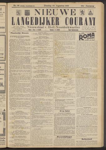 Nieuwe Langedijker Courant 1929-08-20