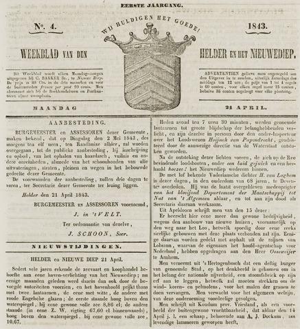 Weekblad van Den Helder en het Nieuwediep 1843-04-24