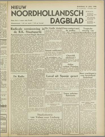 Nieuw Noordhollandsch Dagblad : voor Alkmaar en omgeving 1945-07-31