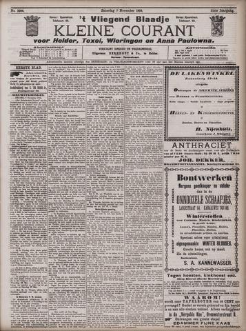 Vliegend blaadje : nieuws- en advertentiebode voor Den Helder 1903-11-07