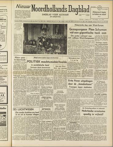 Nieuw Noordhollandsch Dagblad : voor Alkmaar en omgeving 1952-08-11