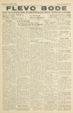 Flevo-bode: nieuwsblad voor Wieringen-Wieringermeer 1946-10-05