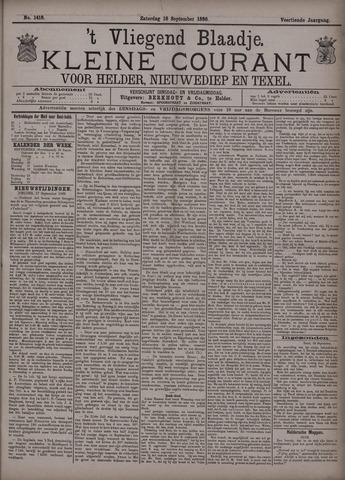 Vliegend blaadje : nieuws- en advertentiebode voor Den Helder 1886-09-18