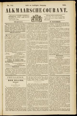 Alkmaarsche Courant 1886-11-26