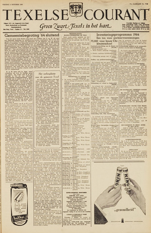 Texelsche Courant 1963-10-04