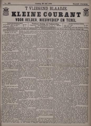 Vliegend blaadje : nieuws- en advertentiebode voor Den Helder 1881-07-26