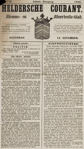 Heldersche Courant 1868-11-14