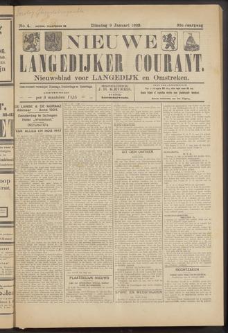 Nieuwe Langedijker Courant 1923-01-09