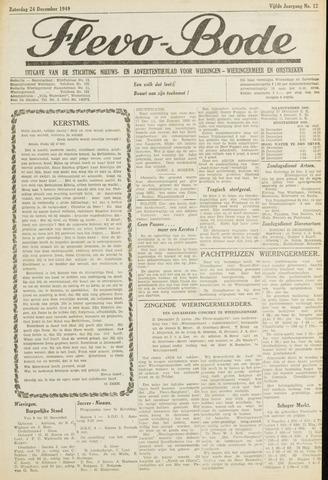 Flevo-bode: nieuwsblad voor Wieringen-Wieringermeer 1949-12-24