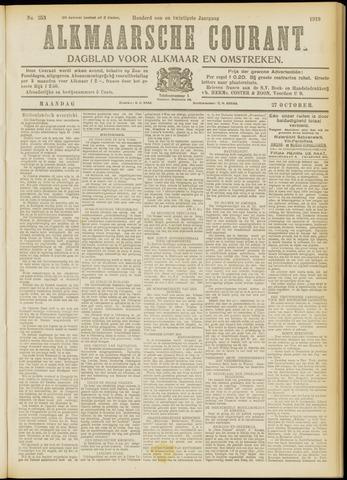 Alkmaarsche Courant 1919-10-27