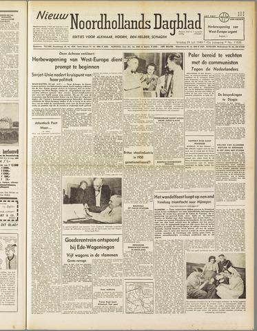 Nieuw Noordhollandsch Dagblad : voor Alkmaar en omgeving 1949-07-29