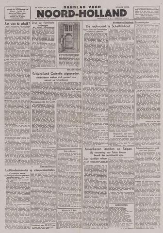 Dagblad Noord-Holland, Schager editie 1944-06-21