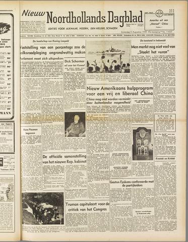 Nieuw Noordhollandsch Dagblad : voor Alkmaar en omgeving 1949-08-06