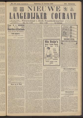 Nieuwe Langedijker Courant 1929-10-19