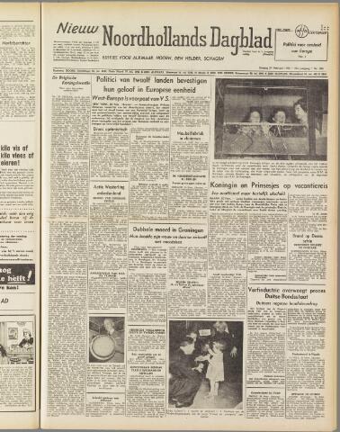 Nieuw Noordhollandsch Dagblad : voor Alkmaar en omgeving 1950-02-21