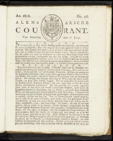Alkmaarsche Courant 1808-06-27