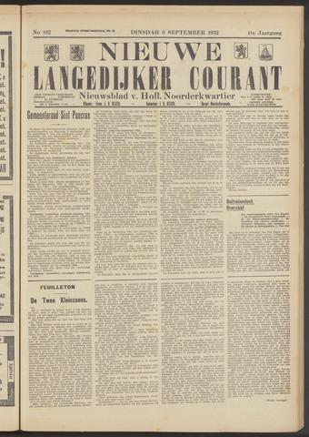 Nieuwe Langedijker Courant 1932-09-06