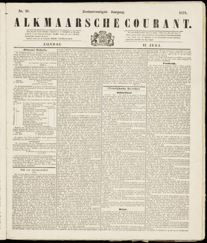 Alkmaarsche Courant 1874-07-12