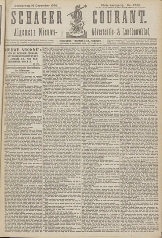 Schager Courant 1920-12-16