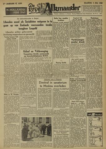 De Vrije Alkmaarder 1949-07-04