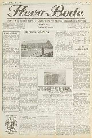 Flevo-bode: nieuwsblad voor Wieringen-Wieringermeer 1949-09-28
