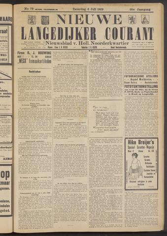 Nieuwe Langedijker Courant 1929-07-06