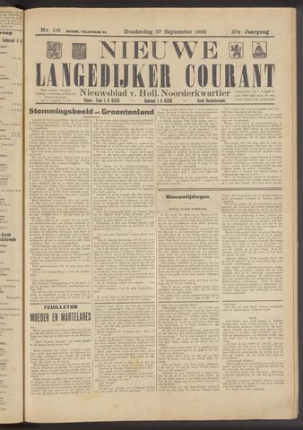 Nieuwe Langedijker Courant 1928-09-27