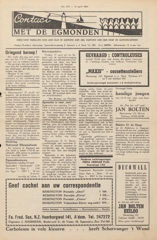 Contact met de Egmonden 1964-04-16