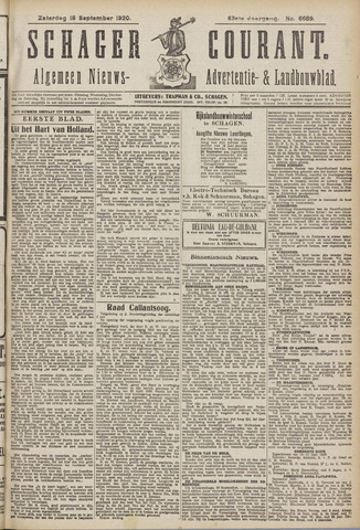 Schager Courant 1920-09-18