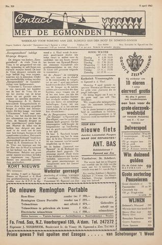 Contact met de Egmonden 1962-04-05