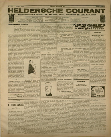 Heldersche Courant 1932-01-19