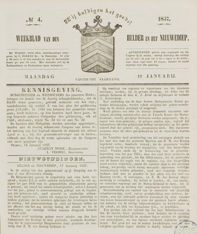 Weekblad van Den Helder en het Nieuwediep 1857-01-19