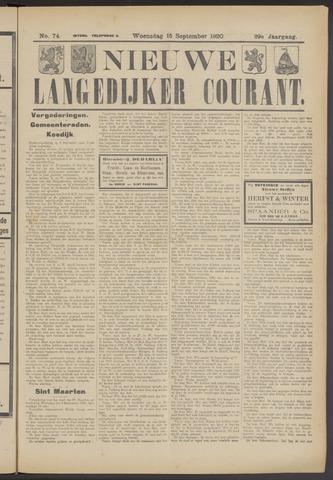 Nieuwe Langedijker Courant 1920-09-15